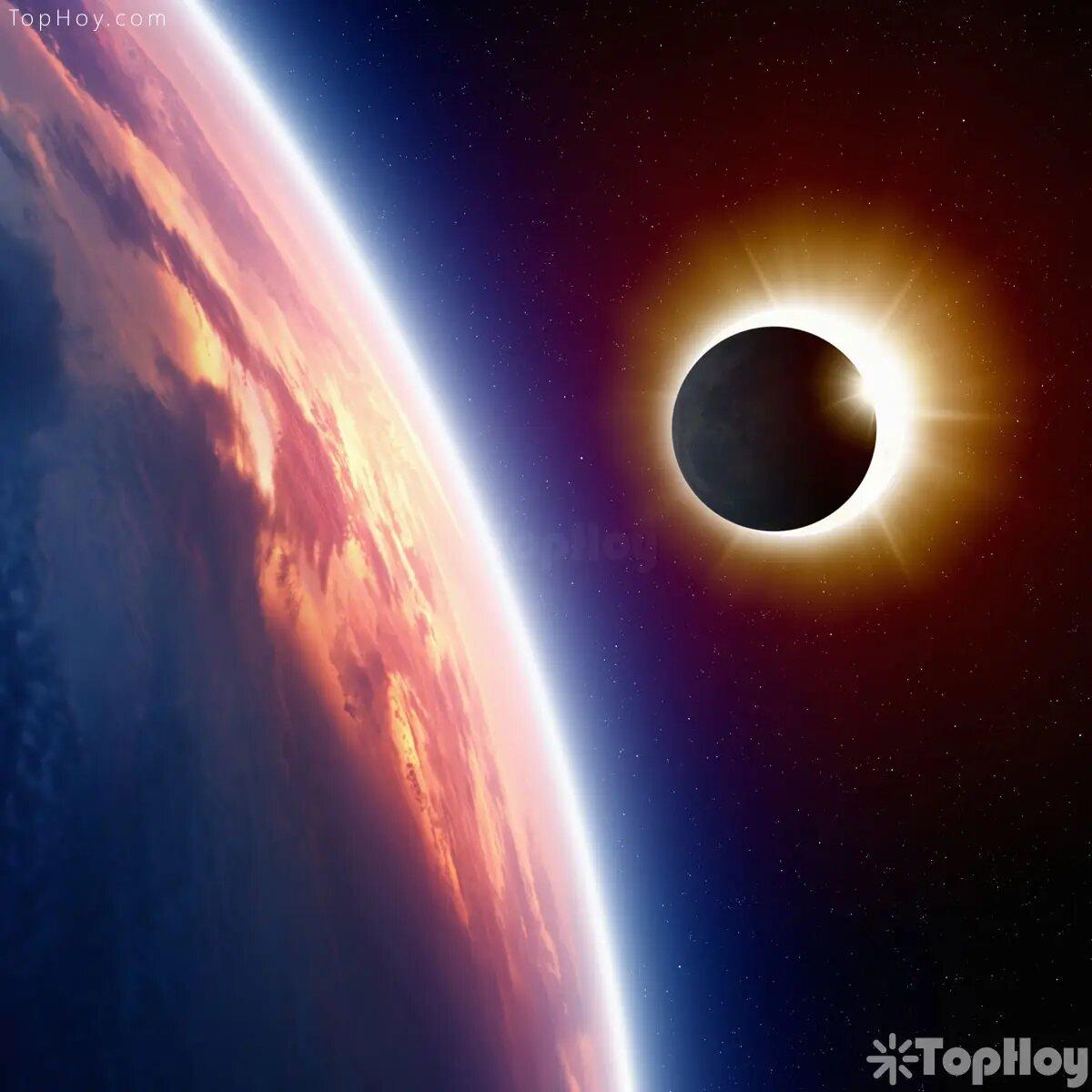 El sol es 400 veces más grande que la Luna, pero en un eclipse se ven del igual tamaño por la distancia de cada uno respecto a la tierra.