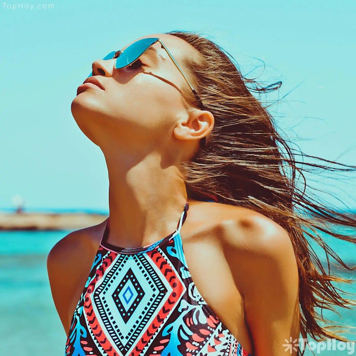 """Las gafas de sol de protegen del envejecimiento del área de los párpados (""""evita las patas de gallina"""")"""