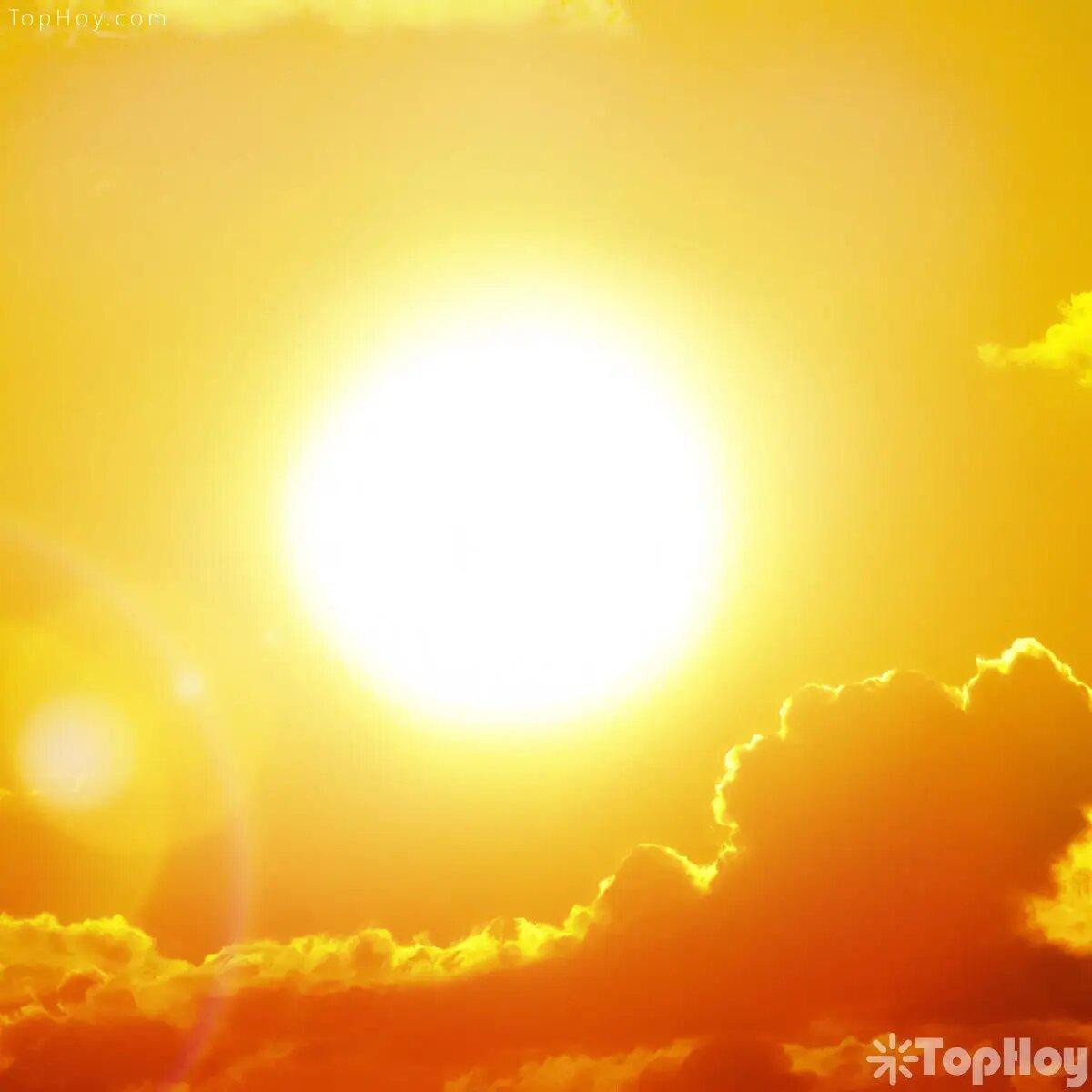 La superficie del sol tiene 5 mil 500 grados Celsius.