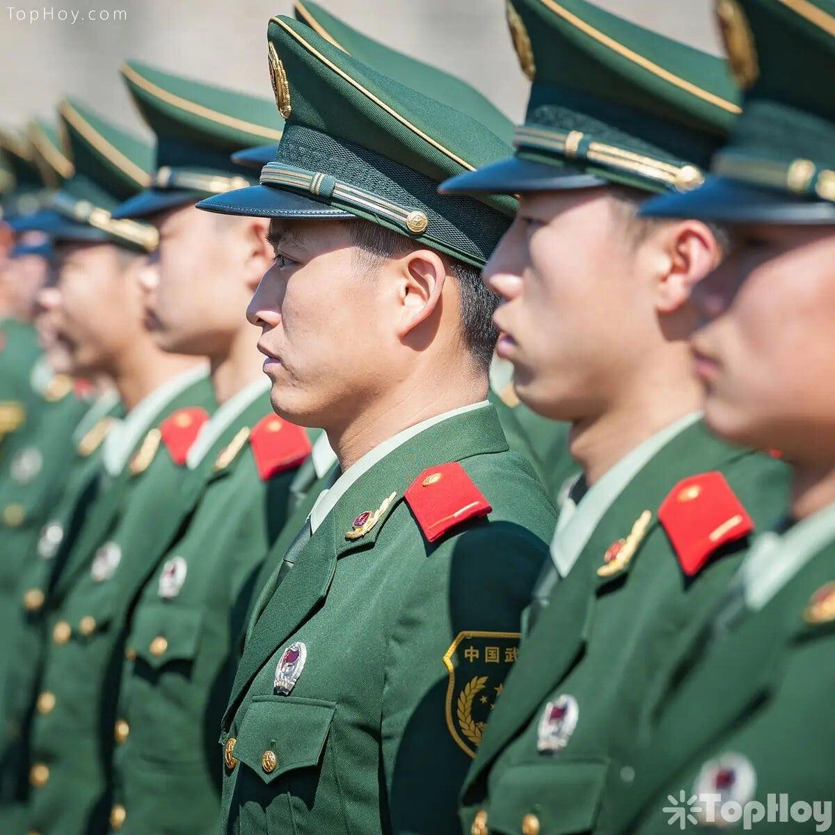 Soldados en China