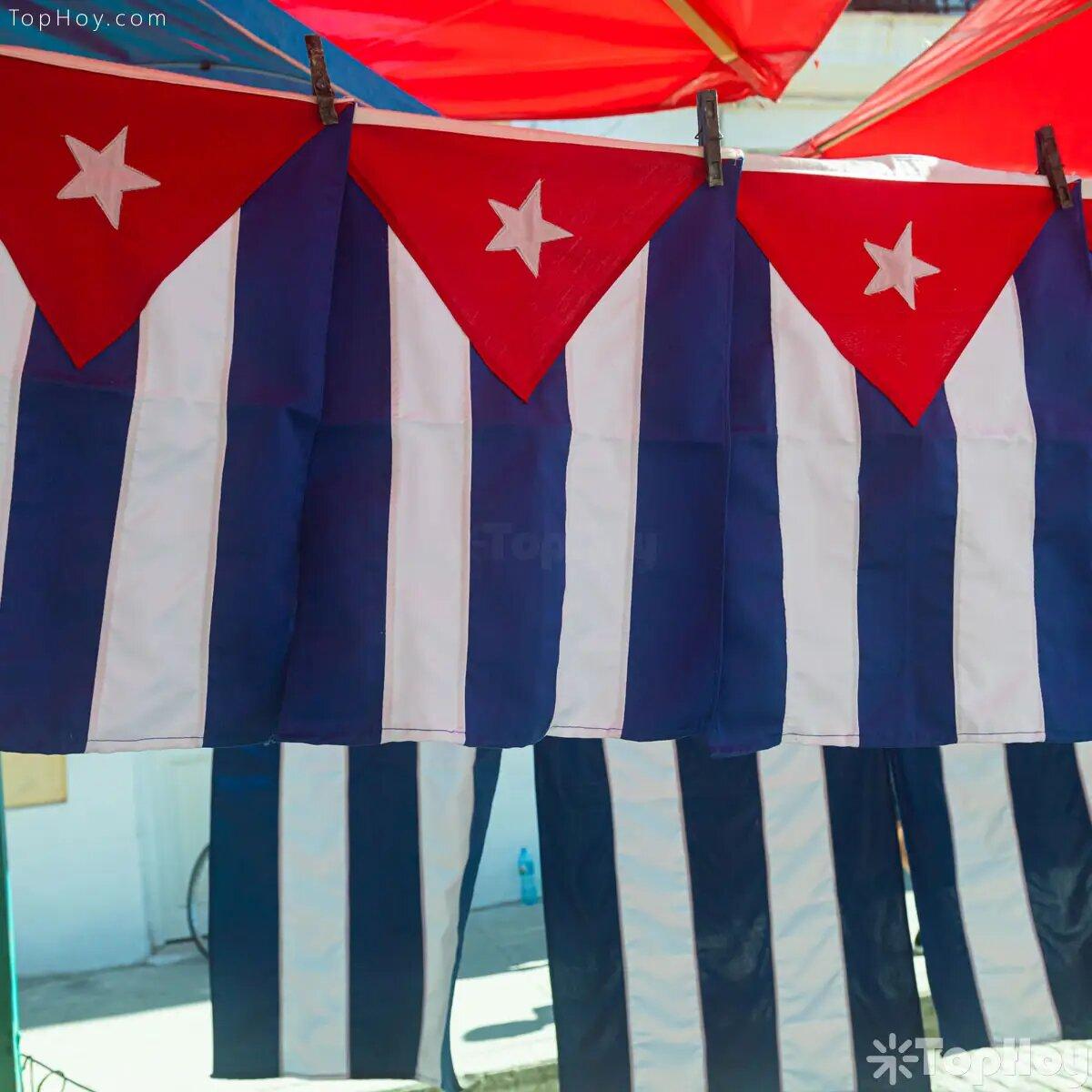 Una bandera cubana